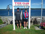 Deb and Reid with the 6th Tyee of the season