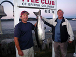 Troy Winslow and Mike Mackie land the first Tyee of 2014