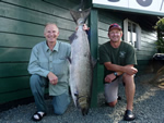 Ken E. Enns and Mike Mackie land 36.5 Pound Tyee