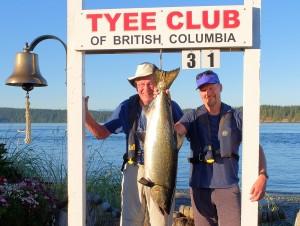 David Duke 31 lbs Aug 28th 645 p.m. on a plug rowed by Ken Duke
