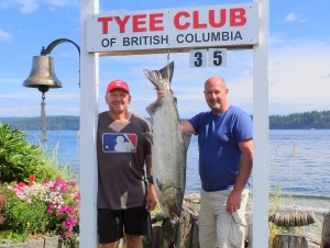 Greg Askey 35 lbs Aug 16th 1100 a.m. on a spoon rowed by Mike Mackie (arch)