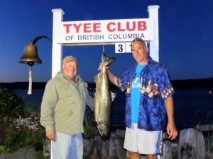 Larry Dougan 31.5 lbs Aug 28th 830 p.m. on a spoon rowed by Troy Perras (rookie rower)