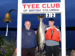 Dave Roemer (new member) 32 lbs Sep 11th 740 p.m. on a plug rowed by Doug Ellis
