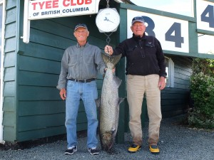 Don Swoboda 34 lbs Sep 1st 1220 p.m. on a spoon rowed by John Barker