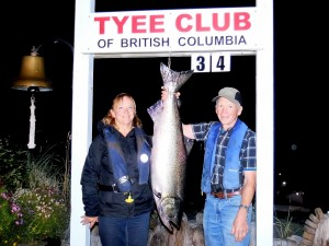 Donna Garber (new member) 34 lbs Sep 6th 745 p.m. on a plug rowed by Dale Blackburn