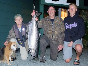 Doug Robinson (new member) 32 lbs Sep 13th 810 p.m. on a spoon rowed by Ken Enns