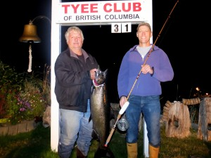 Gary Soles 31 lbs Sep 12th 810 p.m. on a spoon rowed by Steve Spiers