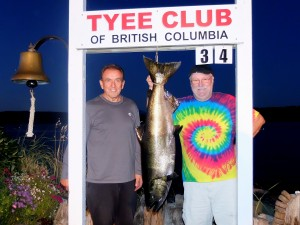 Joe Boutilier (new member) 34 lbs Sep 14th 740 p.m. on a plug rowed by Doug Ellis