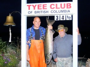 Larry Dougan 34.5 lbs Sep 11th 800 p.m. on a spoon rowed by Troy Perras